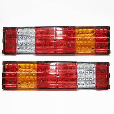 Set Of 2 Led Rear Tail Lights For Mercedes Benz Actros Mp1 24v