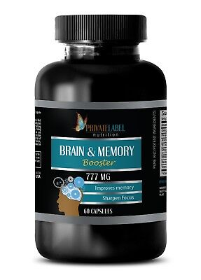 Brain & Memory Booster Supplement, Supports and Maintains Memory (1 Bottle)