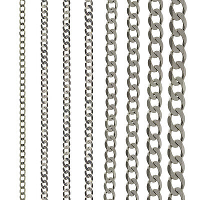 18 20 inch ~ Solid Sterling Silver 2.4mm Baby Belcher Necklace ~ 5.6-7g 16