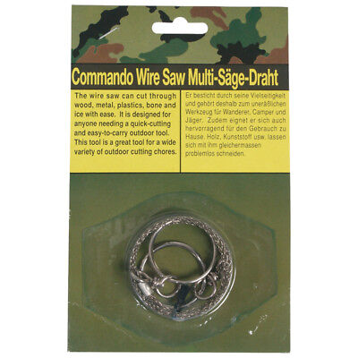Commando Wire Saw Camping Hunting Survival Bushcraft Emergency Steel Army Tool