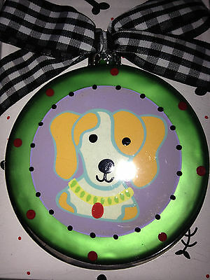 New In Box Glass Beagle Christmas Ornament