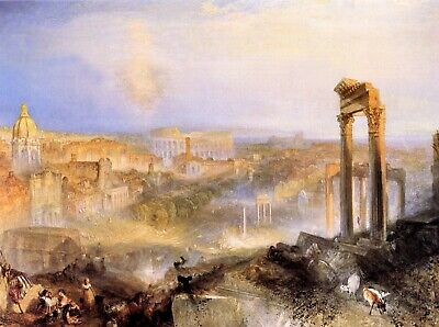 Modern Rome, Camp Vaccino by Joseph Mallord Turner Giclee Reproduction on Canvas
