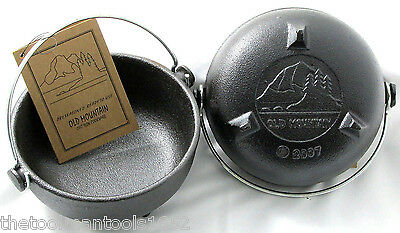 Old Mountain Pre Seasoned Cast Iron 6 inch Small Black Kettle- 2pk.