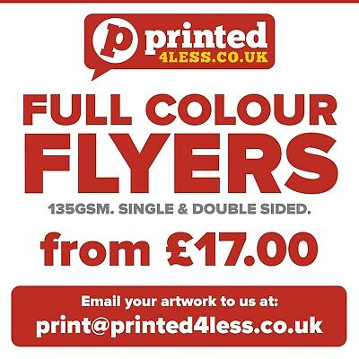 Flyers Leaflets Full Colour Printed Single Double Sided 135Gsm Gloss Silk A5 A6