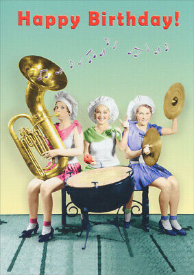 Women Playing Instruments Funny Birthday Card