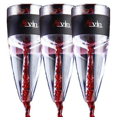 3 PACK SPECIAL - SvIn wine aerator by Magic Decanter, no leaks or spillage