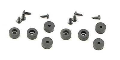 "Set of 8 Rubber Feet 1/2"" Dia. x 1/4"" Tall-With Screws"