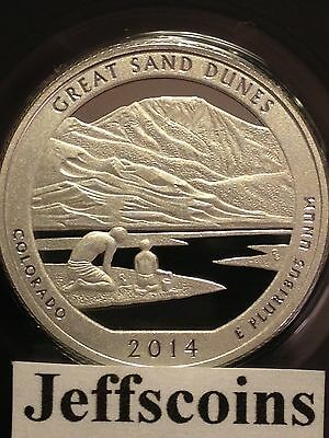 2014 S SILVER Proof GREAT SAND DUNES National Park QUARTER Early Release Perfect