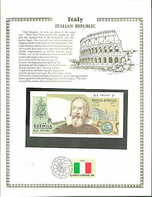 2000 LIRE D'ITALIA italy Banknote WORLD CURRENCY Paper Money UNC Stamp MINT