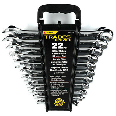 Trades Pro 22 Piece SAE and Metric Combination Wrench Set - 830176