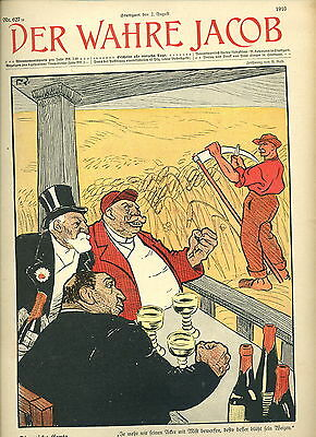 DER WAHRE JACOB Nr. 627 (1910) Satiremagazin [humorous magazine of 1910] RAR!!!