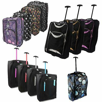 Ez Wheeled Hand Luggage  Trolley Small Flight Travel Bag Cabin Suitcase Holdall