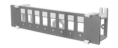 8-Port Unloaded Patch Panel - Insert Your Own Jacks (Grey)