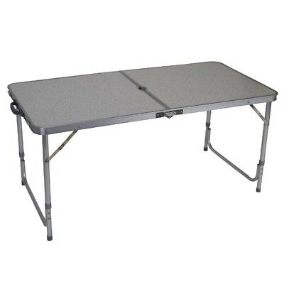 Aluminium MDF Foldable Camping Table 120 x 60cm and 55/70cm High