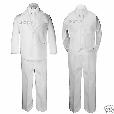 New Boy Formal 1st Communion Christening Wedding Tuxedo Suit White New Born - 20