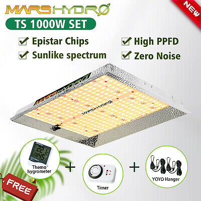 2PCS Mars Hydro 300W LED Grow Light Panel Indoor Plant Full Spectrum Hydroponic