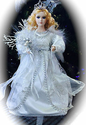 Xmas Angel , Christmas Tree Topper - Angel of Purity - 35cm Tall