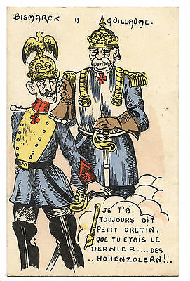 Caricature.bismarck To Guillaume The Last One Of..? Of.. Hohenzolern.dernier Des