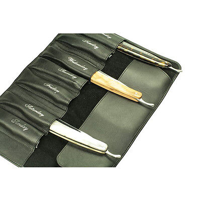 Timor Leather Pouch for 7 Straight Razors