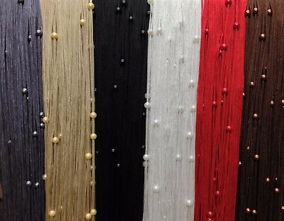Beaded String Strings Curtain Panels Fly Screen Room Window Divider 6 Colours