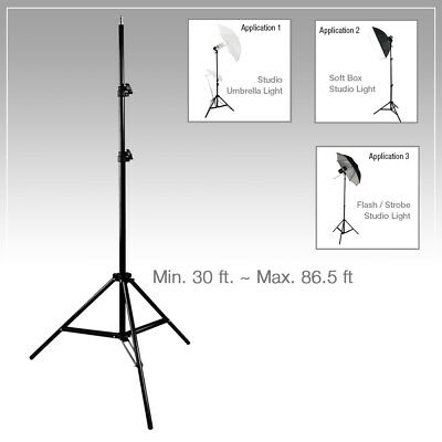 Lusana Studio Support Tripod stand 7ft Photography Softbox Umbrella Light Stand