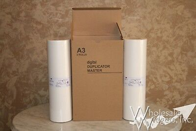 2 Master Rolls Compatible With Riso S-4363 For Risograph EZ MZ 390 590 790 A3
