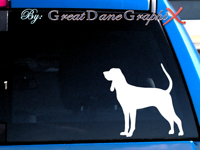 Black and Tan Coonhound Vinyl Decal Sticker / Color Choice - HIGH QUALITY