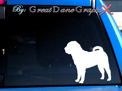 Chinese Shar Pei Vinyl Decal Sticker / Color Choice - HIGH QUALITY