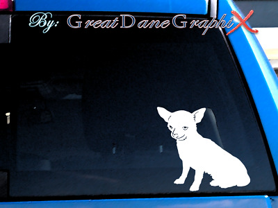 Chihuahua #2 Vinyl Decal Sticker / Color Choice - HIGH QUALITY