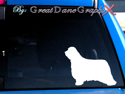 Bearded Collie Vinyl Decal Sticker / Color Choice - HIGH QUALITY