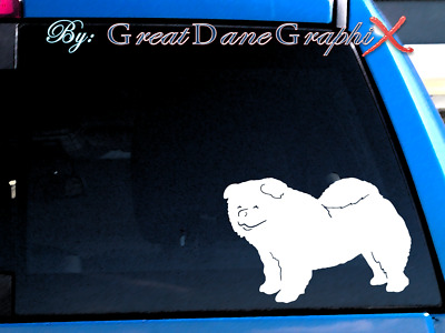 Chow Chow Style - Vinyl Decal Sticker / Color Choice - HIGH QUALITY