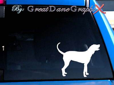 Bluetick Coonhound #2 Vinyl Decal Sticker / Color Choice - HIGH QUALITY