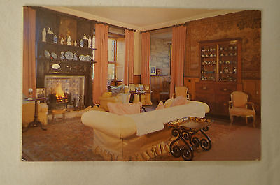 The Queen Mother's Sitting Room - Glamis Castle - Vintage - Postcard.
