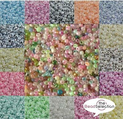 50g PEARL CEYLON SEED BEADS 11/0~2mm 8/0~3mm 6/0~4mm 16 COLOUR CHOICE