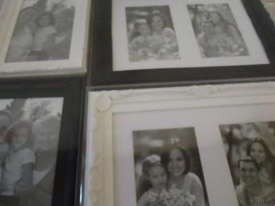 New Vintage Collection black or white small or large photo picture frame
