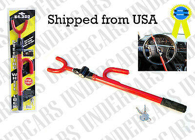 New Brand New & Sealed Car Anti-Theft Steering Wheel Lock Deters Thieves