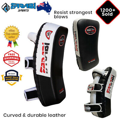 MMA Kick Boxing Strike Shield Thai Pad Focus Target Boxing Hook Arm Black