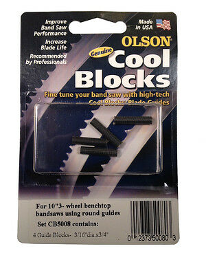 "Olson Genuine Cool Blocks CB50080 fits 10"" 3 Wheel  Benchtop Band Saws"