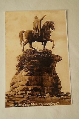 Windsor - Long Walk - Copper Horse - Photo of Postcard.