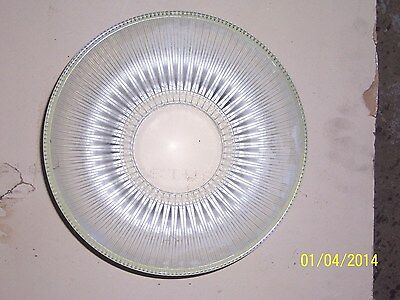 Antique / Ribbed Glass shades 12.25in.dia.bottom 5.5in. dia top ( 3/8in. thick)