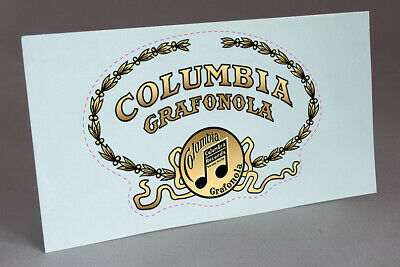 2 Columbia Phonograph Type Disc Water Slide Decal For Phonograph Restoration
