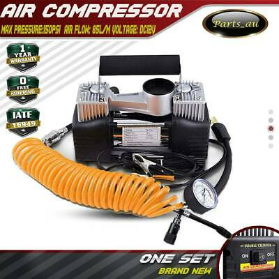 12V 4x4 4WD Portable Air Compressor Car Tyre Deflator Tire Inflator TwinCylinder