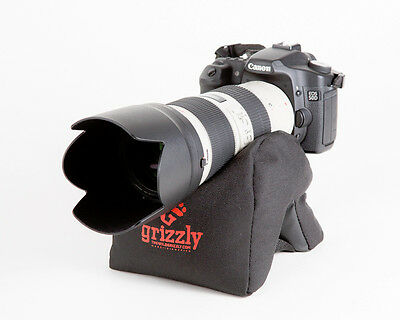 Grizzly Camera Support Bean Bag for Camera, Video, Bhotography,Tripod Med Black,