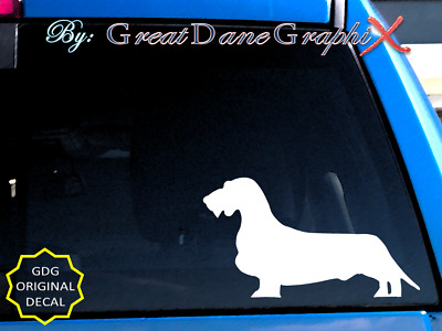 Wired Haired Dachshund Vinyl Decal Sticker / Color Choice - HIGH QUALITY