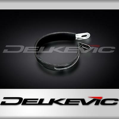 Oval silencer strap 'b' shape stainless with Rubber to fit Delkevic Ov