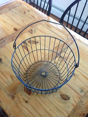 Vintage Metal Wire Basket  Antique Old Bucket Shabby