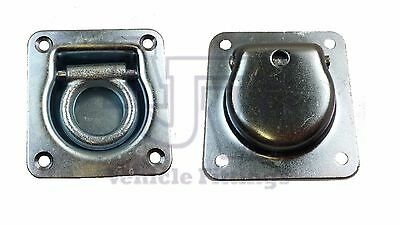 2 X Recessed Flush Fit Lashing Ring Cargo Tie Down Anchor Truck Trailer Horsebox