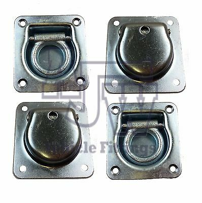 4 X Recessed Flush Fit Lashing Ring Cargo Tie Down Anchor Truck Trailer Horsebox