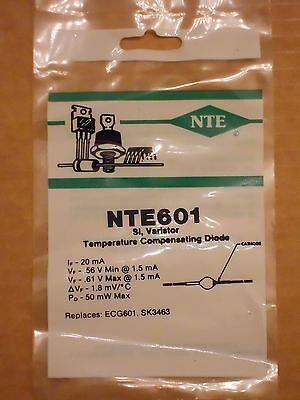 NTE601 ECG601 SK3463 GE-601 M8513 Si Varistor Temperature Compensating Diode NEW