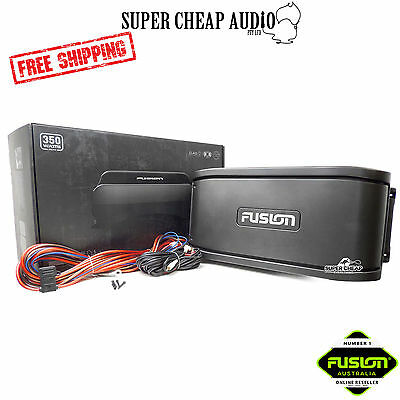 New Fusion Ms-Ab206 Active Marine Subwoofer & 4 Channel Amplifier Sub Amp Activ